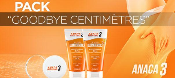Pack goodbye centimètre Anaca objectif : diminuer la cellulite
